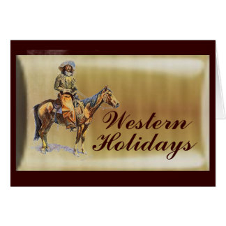 Cartão Feriado ocidental
