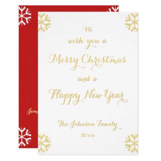 Cartão Feriado personalizado costume do ano novo do Natal