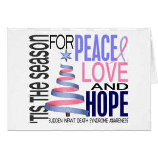 Cartão Feriado SIDS do Natal da esperança do amor da paz