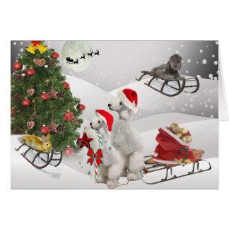 Cartão Feriados do Natal de Bedlington