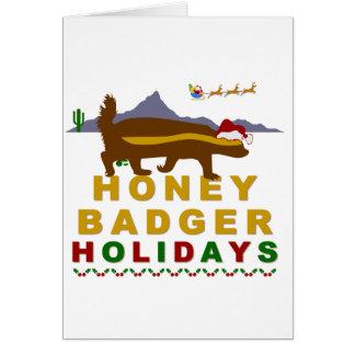 Cartão feriados do texugo de mel