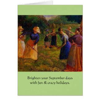 Cartão feriados estranhos de setembro