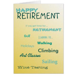 Cartão Feriados felizes da navigação do golfe da