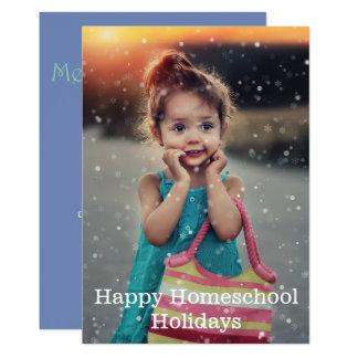 Cartão Feriados felizes de Homeschool