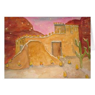 Cartão Feriados no país vermelho da rocha