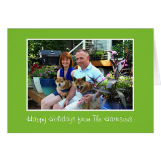 Cartão Feriados personalizados do Natal que cumprimentam