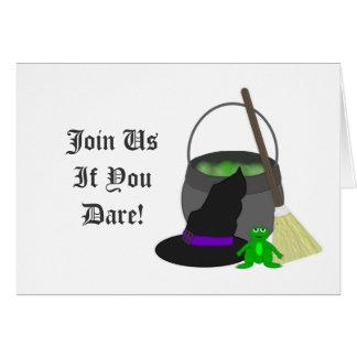 Cartão Fermentação assustador de Witchs