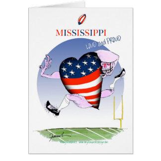 Cartão fernandes tony altos e orgulhosos de mississippi,
