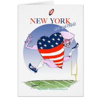 Cartão Fernandes tony altos e orgulhosos de New York,