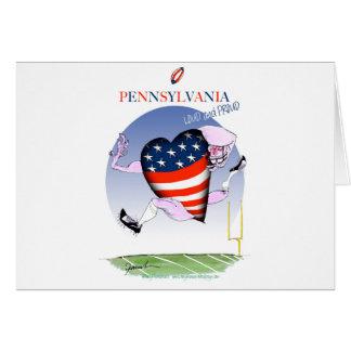 Cartão fernandes tony altos e orgulhosos de Pensilvânia,