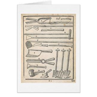 """Cartão Ferramentas de jardim, """"do jardineiro holandês"""""""