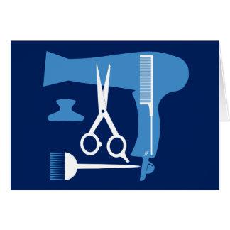 Cartão Ferramentas dos penteados