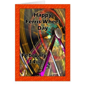 Cartão Ferris roda dia o 14 de fevereiro