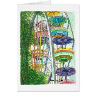 Cartão Ferriswheel nas cores