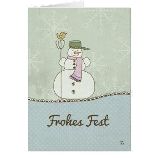 Cartão Fest alegre