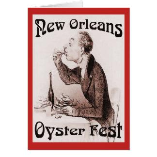 Cartão Fest novo da ostra