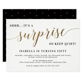 Cartão Festa de aniversário à moda da surpresa do roteiro