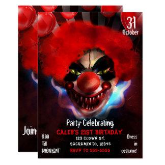 Cartão Festa de aniversário assustador assustador do Dia