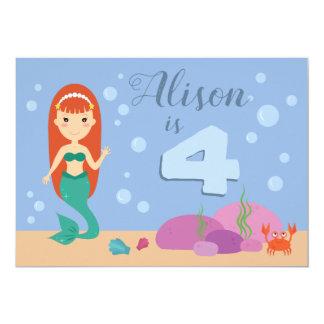 Cartão Festa de aniversário bonito do verão do mar do