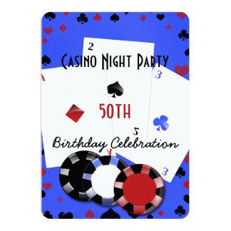 Cartão Festa de aniversário da noite do casino