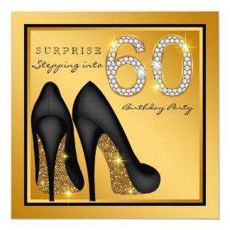 Cartão Festa de aniversário da surpresa 60th da mulher