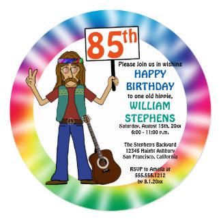Cartão Festa de aniversário da tintura velha do laço do