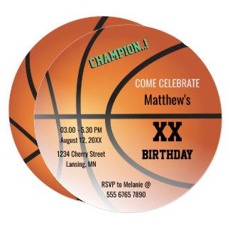 Cartão Festa de aniversário das aros do campeão do