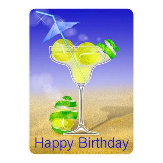 Cartão Festa de aniversário de Margarita do tênis