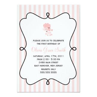 Cartão Festa de aniversario de meninas francesa doce da