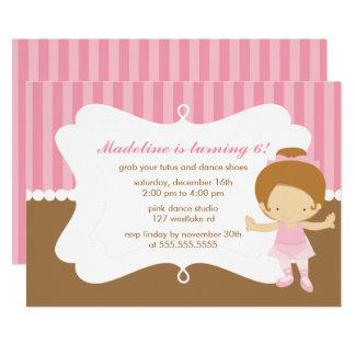 Cartão Festa de aniversario de meninas temático do balé