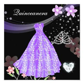 Cartão Festa de aniversário de Quinceanera 15a