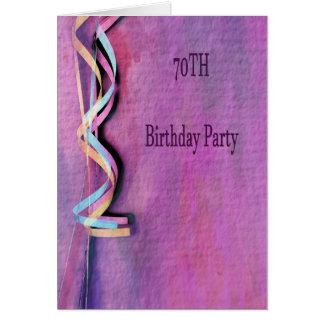 Cartão festa de aniversário do 70