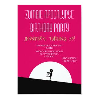 Cartão Festa de aniversário do apocalipse do zombi