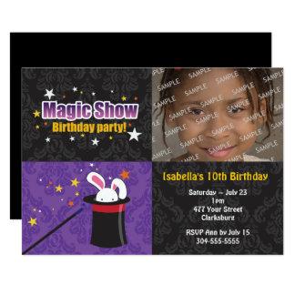Cartão Festa de aniversário do coelho do mágico