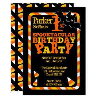 Cartão Festa de aniversário do Dia das Bruxas ?a