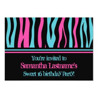Cartão Festa de aniversário do doce 16