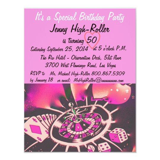 Cartão Festa de aniversário do estilo de Las Vegas