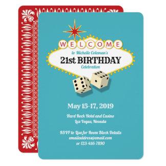 Cartão Festa de aniversário do famoso de Las Vegas