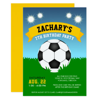 Cartão Festa de aniversário do futebol
