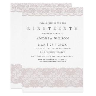 Cartão Festa de aniversário do laço cor-de-rosa das