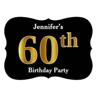 Cartão Festa de aniversário do olhar 60th do ouro do