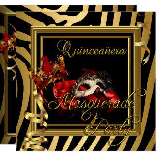 Cartão Festa de aniversário do vermelho da zebra de