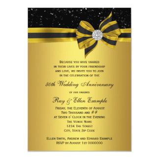 Cartão Festa de aniversário elegante do arco 50th do
