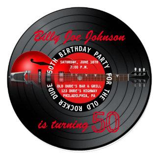 Cartão Festa de aniversário idosa do registro 50th da