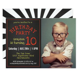 Cartão Festa de aniversário legal do quadro da foto dos