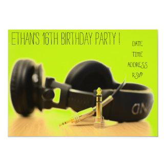 Cartão Festa de aniversário legal funky dos adolescentes