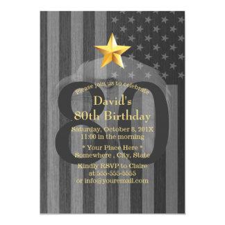 Cartão Festa de aniversário militar da águia americana do