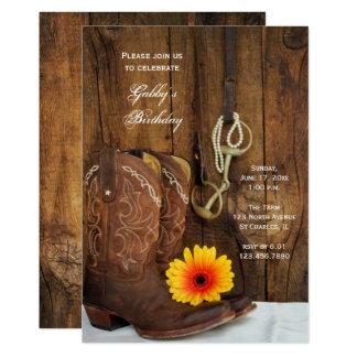 Cartão Festa de aniversário ocidental do país da