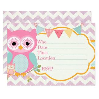 Cartão Festa de aniversário roxa e azul Invitat de