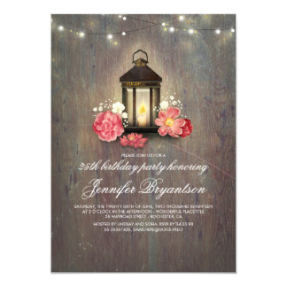 Cartão Festa de aniversário rústica do celeiro da madeira